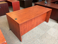 "72"" x 36"" straight front desk for sale"